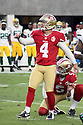 August 26 2016: Kicker Phil Dawson of the San Francisco 49ers before a 21-10 loss to the Green Bay Packers at Levi's Stadium in Santa Clara, Ca.