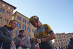 Sep Vanmarcke (BEL) Team Lotto NL-Jumbo finishes in 4th place in the 2015 Strade Bianche Eroica Pro cycle race after 200km over the white gravel roads from San Gimignano to Siena, Tuscany, Italy. 8th March 2015<br /> Photo: Otto de Waele/www.newsfile.ie