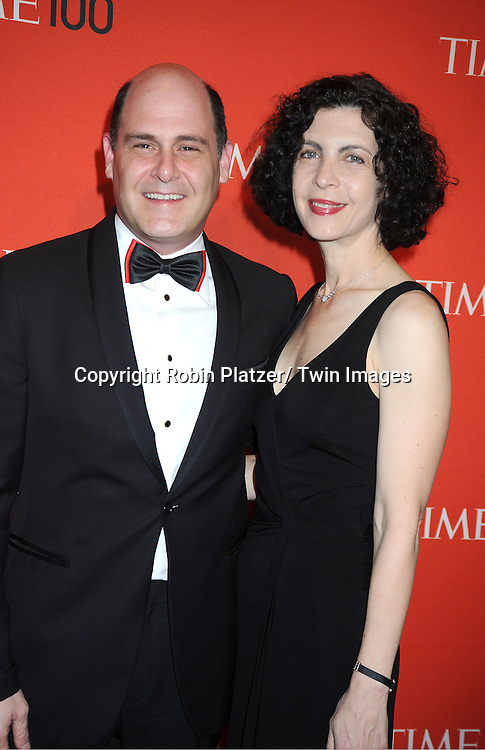 Matthew Weiner and guest attending The Time 100 Most Influential People in the World Gala on April 26, 2011 at Frederick P Rose Hall in The Time Warner Center in New York City.