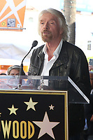 Sir Richard Branson Honored On The Hollywood Walk Of Fame