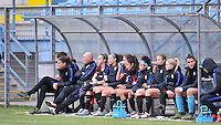 Monfalcone, Italy, April 26, 2016.<br /> USA's bench during USA v Iran football match at Gradisca Tournament of Nations (women's tournament). Monfalcone's stadium.<br /> &copy; ph Simone Ferraro / Isiphotos