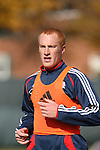 16 November 2007: Jeff Larentowicz. The New England Revolution practiced at the RFK Stadium Auxiliary Field in Washington, DC two days before playing in MLS Cup 2007, Major League Soccer's championship game.