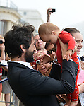 Adrien Brody was present at the Film Festival of Ostend to inaugurate a star with his name on the promenade front of the sea with Moran Atias . <br /> When a fan propose to make a picture with his baby, Adrien Brody ready to be a father.<br /> Ostend, Belgium, 19 September 2014l