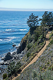 USA, California, Big Sur, Esalen, the walking path from the Lodge to the Baths at the Esalen Institute