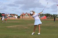 Bronte Law (ENG) on the 2nd fairway during Round 3 of the Ricoh Women's British Open at Royal Lytham &amp; St. Annes on Saturday 4th August 2018.<br /> Picture:  Thos Caffrey / Golffile<br /> <br /> All photo usage must carry mandatory copyright credit (&copy; Golffile | Thos Caffrey)
