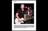 Carbon Casino: Photographic Book, Page 116 - James Dean Bradfield from the Manic Street Preachers, and Pete Wylie, perform at Carbon Casino VII - Inn On The Green, Portobello, London - 29th February 2008