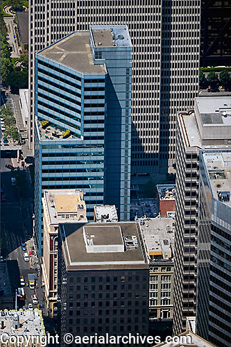 aerial photograph 353 Sacramento Street office tower San Francisco