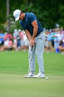 Brooks Koepka (USA) watches his putt on 4 during Friday's round 2 of the PGA Championship at the Quail Hollow Club in Charlotte, North Carolina. 8/11/2017.<br /> Picture: Golffile | Ken Murray<br /> <br /> <br /> All photo usage must carry mandatory copyright credit (&copy; Golffile | Ken Murray)