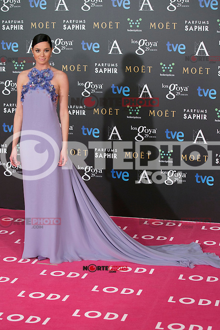 Dafne Fernandez attend the 2015 Goya Awards at Auditorium Hotel, Madrid,  Spain. February 07, 2015.(ALTERPHOTOS/)Carlos Dafonte) /NORTEphoto.com