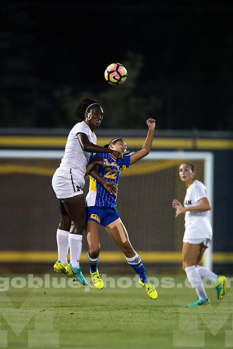 9/9/16 The University of Michigan women's soccer team defeats UC-Riverside, 4-0, at Michigan Soccer Stadium in Ann Arbor, MI on September 9, 2016.