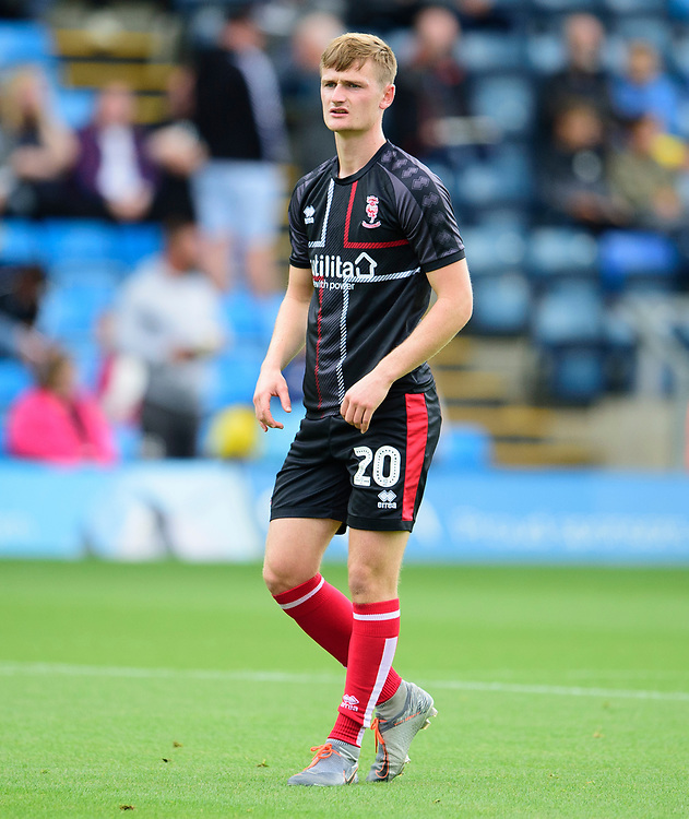 Lincoln City's Callum Connolly during the pre-match warm-up<br /> <br /> Photographer Andrew Vaughan/CameraSport<br /> <br /> The EFL Sky Bet League One - Wycombe Wanderers v Lincoln City - Saturday 7th September 2019 - Adams Park - Wycombe<br /> <br /> World Copyright © 2019 CameraSport. All rights reserved. 43 Linden Ave. Countesthorpe. Leicester. England. LE8 5PG - Tel: +44 (0) 116 277 4147 - admin@camerasport.com - www.camerasport.com