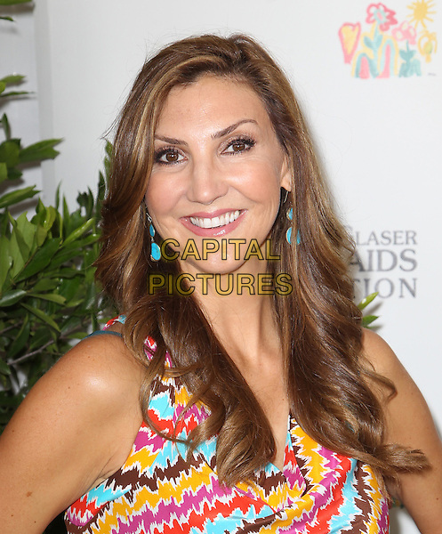 Heather McDonald.Elizabeth Glaser Pediatric AIDS Foundation's 23rd Annual 'A Time For Heroes' Celebrity Picnic held at The Wadsworth Theater, Los Angeles, California, USA..3rd June 2012.headshot portrait orange brown blue pink print top yellow .CAP/ADM/FS.©Faye Sadou/AdMedia/Capital Pictures.