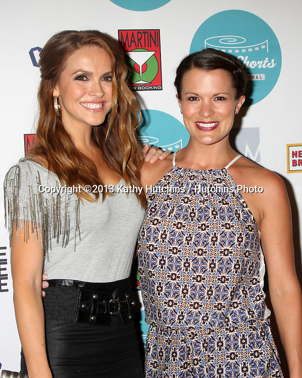 LOS ANGELES - AUG 17:  Chrishell Stause, Melissa Claire Egan at the HollyShorts Film Festival  at the TCL Chinese 6 Theaters on August 17, 2013 in Los Angeles, CA