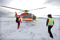 Norwegian Air Ambulance helicopter and crew.
