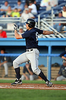 August 22 2008:  Cord Phelps of the Mahoning Valley Scrappers, Class-A affiliate of the Cleveland Indians, during a game at Dwyer Stadium in Batavia, NY.  Photo by:  Mike Janes/Four Seam Images