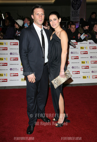 Kirsty Gallacher  and Paul Sampson arriving for the 2010 Pride Of Britain Awards, at the Grosvenor House Hotel, London. 08/11/2010  Picture by: Alexandra Glen / Featureflash