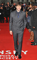 Michiel Huisman at the &quot;The Guernsey Literary And Potato Peel Pie Society&quot; world film premiere, Curzon Mayfair cinema, Curzon Street, London, England, UK, on Monday 09 April 2018.<br /> CAP/CAN<br /> &copy;CAN/Capital Pictures