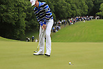 Jamie Donaldson (WAL) putts on the 1st green during the Final Day of the BMW PGA Championship Championship at, Wentworth Club, Surrey, England, 29th May 2011. (Photo Eoin Clarke/Golffile 2011)