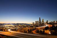 sunset skyline view view from Rizal Park, Seattle, WA