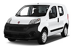 2018 Fiat Fiorino Base 5 Door MPV angular front stock photos of front three quarter view