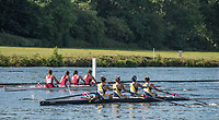 Henley. Berks, United Kingdom. <br /> <br /> Heat of the J4+. Merion Mercy Acad. competing at the 2017 Henley' Women's Regatta. Rowing on, Henley Reach. River Thames. <br /> <br /> <br /> Saturday  17/06/2017<br /> <br /> <br /> [Mandatory Credit Peter SPURRIER/Intersport Images]