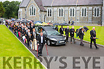 Dr Crokes give a guard of honour as Mr O'Shea funeral leave St Mary's Cathedral on Tuesday