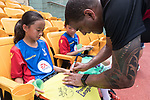 Phil Babb signs autograph at a morning training session with Hong Kong children for the launch of the Premier League Asia Trophy 2017 at the Hong Kong Football Club on 01 June 2017 in Hong Kong, China Photo by Chris Wong / Power Sport Images
