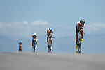 KONA-KAILUA, HI - OCTOBER 11: Male competitors  during the 112 miles of the Around-O'ahu Bike Race at the 2014 IRONMAN Triathlon World Championships presented by GoPro on October 11, 2014 in Kailua-Kona, Hawaii. (Photo by Donald Miralle) *** Local Caption ***