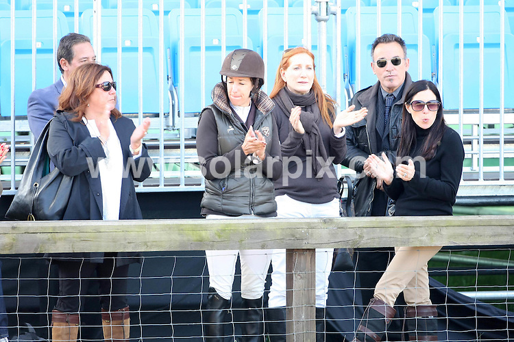 **ALL ROUND PICTURES FROM SOLARPIX.COM**                                             **WORLDWIDE SYNDICATION RIGHTS**                                                                                  Caption:  Royals & celebrities attend  day three of Windsor horse show  in Windsor UK                                                                        .This pic:Bruce Springsteen & wife Patti Scialfa with friends watching their daughter compete                                                                                         JOB REF: 13335       EBR       DATE: 13.05.2011                                                           **MUST CREDIT SOLARPIX.COM OR DOUBLE FEE WILL BE CHARGED**                                                                      **MUST AGREE FEE BEFORE ONLINE USAGE**                               **CALL US ON: +34 952 811 768 or LOW RATE FROM UK 0844 617 7637**