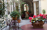 Courtyard, Enoteca Pinchiorri Restaurant, Florence, Italy