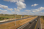 Israel, Shephelah. Highway 6, the Yitzhak Rabin Cross Israel Highway