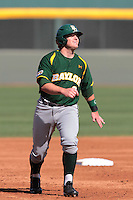 Max Muncy #9 of the Baylor Bears runs the bases against the UCLA Bruins at Jackie Robinson Stadium on February 25, 2012 in Los Angeles,California. UCLA defeated Baylor 9-3.(Larry Goren/Four Seam Images)