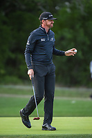 Jimmy Walker (USA) after sinking his putt on 14 during Round 1 of the Valero Texas Open, AT&amp;T Oaks Course, TPC San Antonio, San Antonio, Texas, USA. 4/19/2018.<br /> Picture: Golffile | Ken Murray<br /> <br /> <br /> All photo usage must carry mandatory copyright credit (&copy; Golffile | Ken Murray)