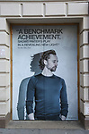 """Theatre Marquee for Harold Pinter's """"Betrayal"""" starring Tom Hiddleston, Zawe Ashto and Charlie Cox under the direction of Jamie Lloyd at the Jacobs Theatre on August 22, 2019 in New York City."""