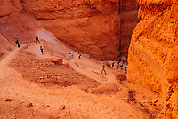 people walking on Navajo Loop trail, Bryce Canyon National Park, Utah, USA