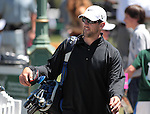 NFL quarterback Aaron Rodgers talks with fans before their practice round at the American Century Championship golf tournament at Edgewood Tahoe at Stateline, Nev., on Wednesday, July 18, 2012..Photo by Cathleen Allison