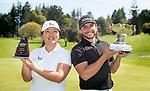 Open winners,  Darae Chung and Luke Toomey. Jennian Homes Charles Tour, Carrus Open, Tauranga Golf Club, Tauranga, New Zealand, Thursday 10 October 2019. Photo John Borren/www.bwmedia.co.nz