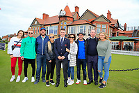 Conor Purcell  (GB&I)  and family after the opening ceremony at the Walker Cup, Royal Liverpool Golf CLub, Hoylake, Cheshire, England. 06/09/2019.<br /> Picture Fran Caffrey / Golffile.ie<br /> <br /> All photo usage must carry mandatory copyright credit (© Golffile | Fran Caffrey)