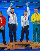 Scotlands Neil Fachie and pilot, Matt Rotherham win gold. Cycling, Commonwealth Games, Gold Coast, Australia. Saturday, 7 April, 2018. Copyright photo: John Cowpland / www.photosport.nz