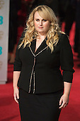 London, UK. 14 February 2016. Australian comedian and actress Rebel Wilson. Red carpet arrivals for the 69th EE British Academy Film Awards, BAFTAs, at the Royal Opera House. © Vibrant Pictures/Alamy Live News