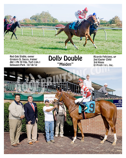 Dolly Double winning at Delaware Park on 10/18/12