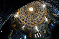 Interior of the Cathedral of Santa Maria Assunta (Il Duomo) 1220, Siena, Tuscany, Italy