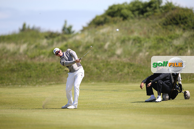 Geoff Drakeford (Australia) won his match 4&3 during Round One of the Match Play at The Amateur Championship 2014 from Royal Portrush Golf Club, Portrush, Northern Ireland. Picture:  David Lloyd / www.golffile.ie