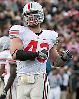 Ohio State linebacker Nathan Williams. The Purdue Boilermakers defeated the Ohio State Buckeyes 26-18 at Ross-Ade Stadium, West Lafayette, Indiana on October 17, 2009..