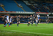 3rd October 2017, Ewood Park, Blackburn, England; Football League Trophy Group stage, Blackburn Rovers versus Bury; Bury's Phil Edwards (14) heads the ball out of the box