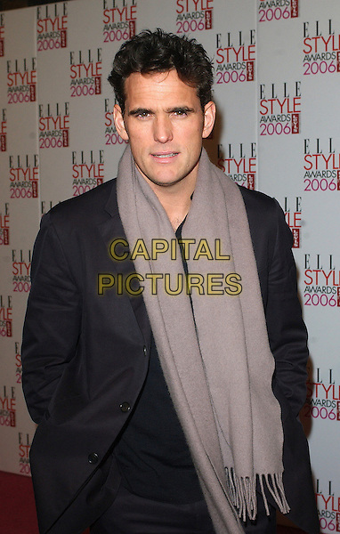 MATT DILLON.The Elle Style Awards 2006, Atlantis Gallery, Old Truman Brewery, Brick Lane, London, UK..February 20th, 2006 .Ref: BEL.half length black jacket grey gray scarf.www.capitalpictures.com.sales@capitalpictures.com.© Capital Pictures.
