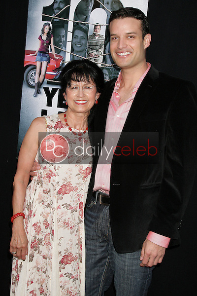 B.P. Cooper and and his mother<br />at the Los Angeles Sneak Peek Screening of 'Ten Years Later'. Majestic Crest Theatre, Los Angeles, CA. 07-16-09<br />Dave Edwards/DailyCeleb.com 818-249-4998