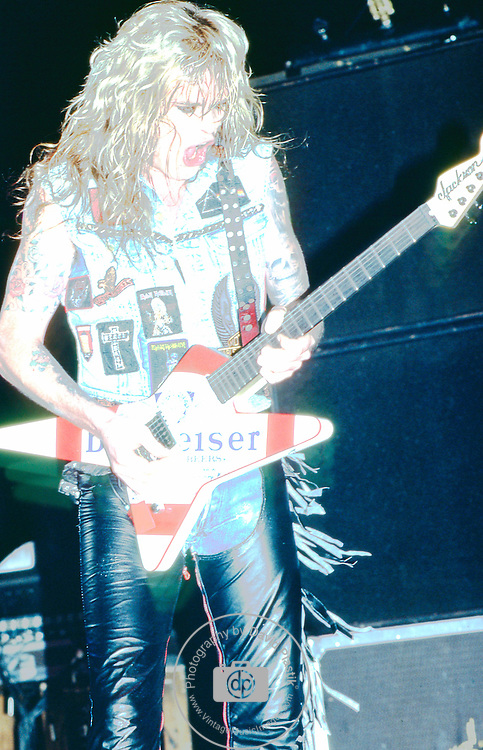 WASP -Chris Holmes performing live in Los Angeles -Aug 1989
