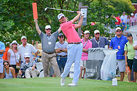 Sean O'Hair (USA) watches his tee shot on 7 during round 3 of the Dean &amp; Deluca Invitational, at The Colonial, Ft. Worth, Texas, USA. 5/27/2017.<br /> Picture: Golffile | Ken Murray<br /> <br /> <br /> All photo usage must carry mandatory copyright credit (&copy; Golffile | Ken Murray)