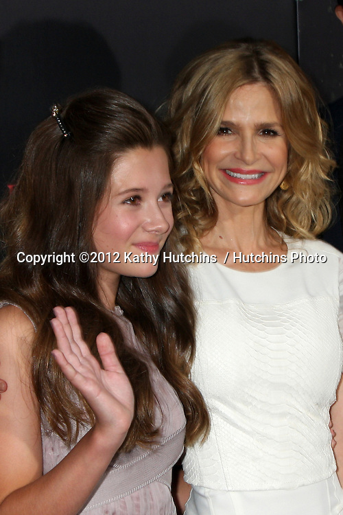 """LOS ANGELES - AUG 28:  Natasha Calis, Kyra Sedgwick arrives at """"The Possession"""" LA Premiere at ArcLight Theaters on August 28, 2012 in Los Angeles, CA"""